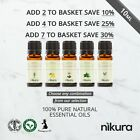 10ml Essential Oils 100% Pure & Natural (Aromatherapy) Nikura Fragrances <br/> ADD ANY 4 PAY FOR 3 - AROMATHERAPY TRADE COUNCIL MEMBER
