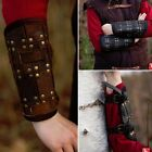Leather Ready For Battle Arm Bracers - Black / Brown - Ideal For LARP