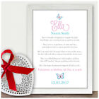 Personalised Poem Gifts for Baby Girl Daughter Granddaughter Niece Nursery Art