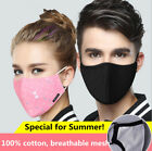 Внешний вид - Washable Cotton Face Mouth Mask Anti Dust Pollution Haze Filter Respirator Thin