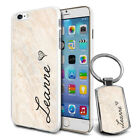Personalised Marble Design Phone Case Cover & Keyring for Various Phones - 607