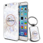 Personalised Marble Design Phone Case Cover & Keyring for Various Phones - 572