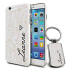 Personalised Marble Design Phone Case Cover & Keyring for Various Phones - 598