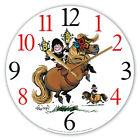 Thellwell Glass Clock Pony With Trophies
