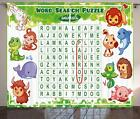 Word Search Puzzle Curtains 2 Panel Set Decor 5 Sizes Available Window Drapes