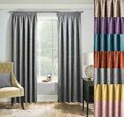 Matrix Woven Textured Thermal Blockout Tape Top Pencil Pleat Curtains