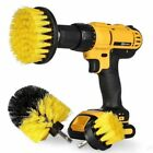 3Pcs Kit Cleaning Brushes Combo Scrubber Cleaner Drill Brush for Tile Ground Car