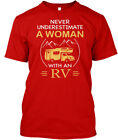 On trend Camping Rv - Never Underestimate A Women With An Premium Tee T-Shirt