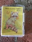 Vtg Sangamon Note Cards Greeting Stationery Racoon Heres a Pretty Fancy Tale NIP