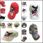 Patriotic American Eagle And American Flag Baseball Cap USA 3D Embroidery Design