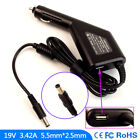 Laptop DC Adapter Car Charger USB Power for Asus X73E-TY195V X73E-TY250V-B