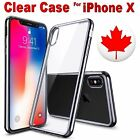 Apple- Phone X Clear Silicone TPU Shockproof Case Cover