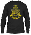 Biker Father Gift For Dad On Daddy Gildan Long Sleeve Tee T-Shirt