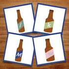Beer Bottles Font - 52 Alphabet Letters Machine Embroidery Designs, Beer ABC
