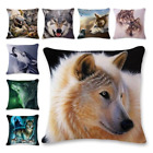 Cool Wolf Painting Square Pillow Case Sofa Throw Cushion Cov