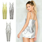 New Ladies 3 Piece Pyjama Set  Vest Lace Shorts Womens Satin PJ Sexy Nightwear