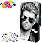 George Michael Handsome Sunglasses  - Leather Flip Wallet Phone Case Cover