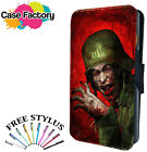 ARMY VIRUS WAR ZOMBIE - Leather Flip Wallet Phone Case Cover