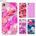 BINYEAE pink camouflage Clear Cell Phone Case Cover for Apple iPhone 4 4s 5 5s S