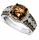 Round Cut Chocolate CZ Women Fashion Jewelry Ring J994