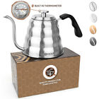 Gooseneck Kettle Stainless Steel Coffee Tea Stove Top Built-in Thermometer 40oz photo