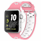 Silicone Sport Band Replacement Strap for Apple Watch 38/42mm Series 3/2/1