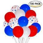 Patriotic Decorations Star Latex Balloons (100 pcs) Day Party Decoration