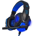 Surround Stereo LED Pro Gaming Headset Headband Headphone USB 3.5mm Mic for PC