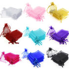 200pcs Sheer Drawstring Organza Jewelry Pouches Wedding Party Favor Gift Bags