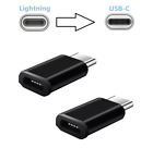 2 PCS Lightning to USB C Type C Charging Adapter for Smart Phone iPhone