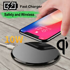 10W Qi Wireless Tempered Glass Fast Charger For iPhone 8 X Samsung S9/S8+/S7Edge