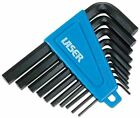 Laser Hex Key Set 10 Pieces Af Black Anodized Long Life + Clip Holder 0951