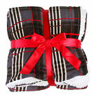 Deluxe Reversible Self-hemmed Plaid Warm Soft Blanket Throw - 50 x 60 image