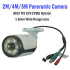 2MP/4MP/5MP HD-AHD/TVI/CVI/CVBS 4 In 1 180° Wide Panoramic CCTV Outdoor Camera