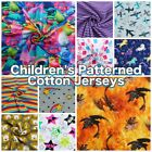 Colourful Soft Children's Patterned Cotton Stretch Knit Jersey Dress Fabric