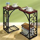 C Shaped Coffee Tray Sofa Side End Table Lap Stand TV Snack