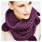 Avon Ladies Dottie Knitted Snood with Pom Pom's Purple or Mustard.