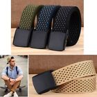 Men's Tactical Military Combat Nylon Canvas Belt Buckle Strap Waistband