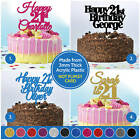 21st Birthday Cake Topper PERSONALISED Cake Decoration Twenty First 21 Custom