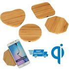 Bamboo Wood Qi Charger Pad Wireless Charger For Samsung Galaxy S6/S7 iPhone 8,X