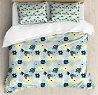 Exotic Summer Duvet Cover Set Twin Queen King Sizes with Pillow Shams Ambesonne