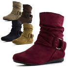 Link Youth Girls Faux Suede Ankle Boots Shoes S58K (Toddler 9 10, Youth 11-4)