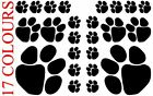 24 X Paw Print Dog Cat Decal Vinyl Stickers Mixed Size Car Wall Glass Craft Art