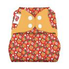Flip Hybrid Reusable Cloth Diaper Cover with Adjustable Snaps and Stretchy Tabs