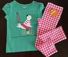 NWT Gymboree Girl Shore To Love Green Seagull Tee &Pink Pants Outfit 2T 3T 4T 5T