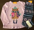 NWT Gymboree Girl Ice Dancer Skater Bear Tee & Fuzzy Leggings Outfit 3T 4T 5T