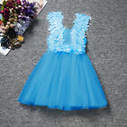 Toddler Baby Girls Princess Dress Kids Tulle Tutu Party Wedding Pageant Dress
