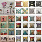 Vintage Cotton Linen Pillows Case Sofa Car Waist Throw Cushion Cover Home Decor image