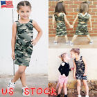 Toddler Infant Kid Baby Girl Sleeveless Camouflage Princess Dress Clothes Summer