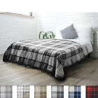 "PAVILIA Fleece Plaid Sherpa Twin Size Bed Blanket 60"" x 80"" Luxury Microfiber image"